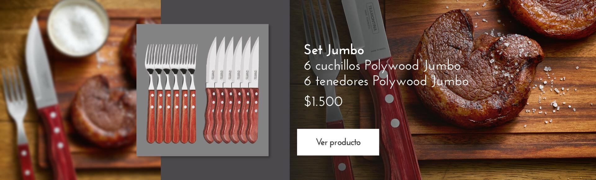 Jumbo 6cuchillos 6 tenedores