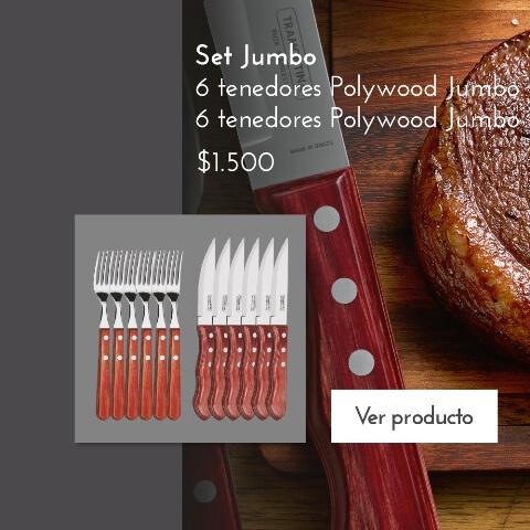 Jumbo 6 cuchillos 6 tenedores